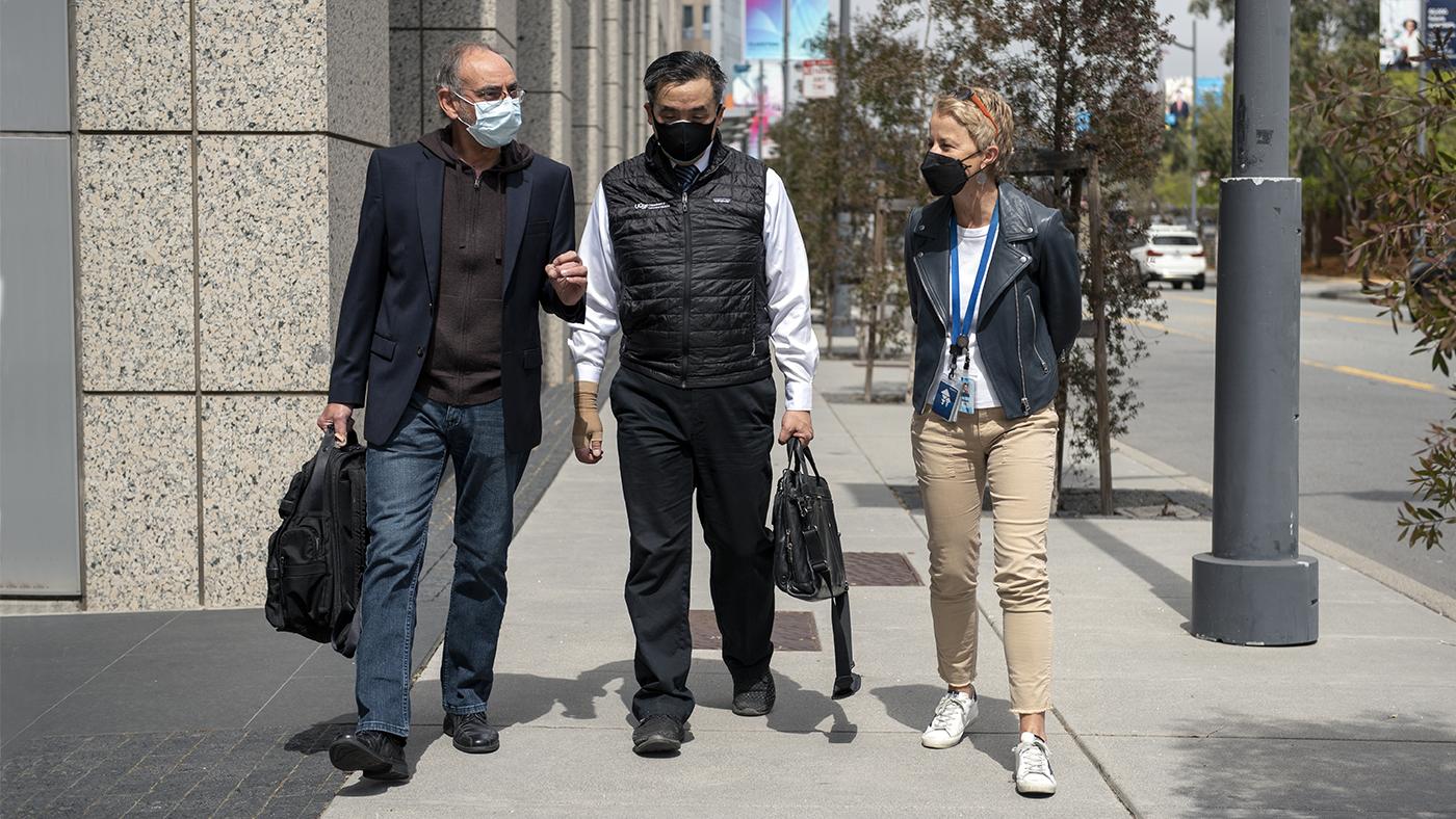Scientists Raul Andino, Charles Chiu, and Melanie Ott