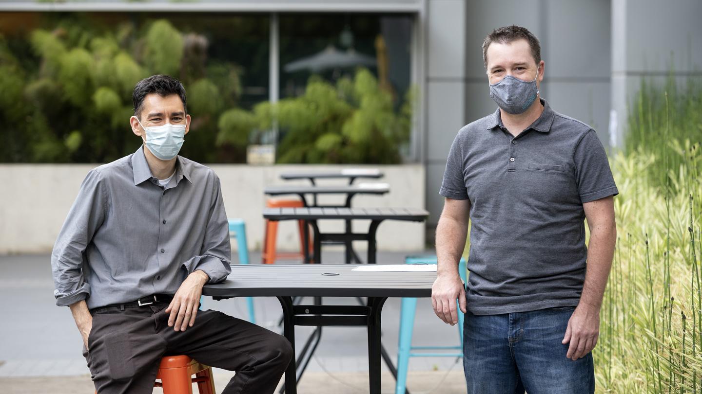 Gladstone scientists Todd McDevitt and Ken Nakamura