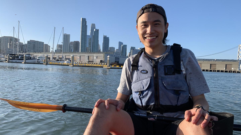 Oscar Yip Kayaking on the San Francisco Bay
